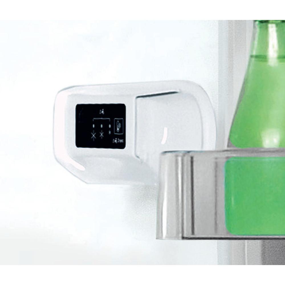 Indesit Külmik-sügavkülmik Eraldiseisev LI8 S2E K Must 2 doors Lifestyle control panel