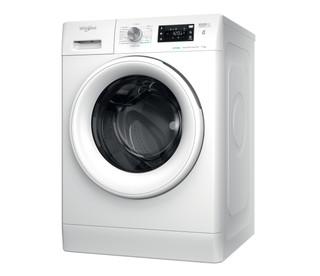 Fritstående Whirlpool-vaskemaskine med frontbetjening: 7 kg - FFB 7438 WV EE