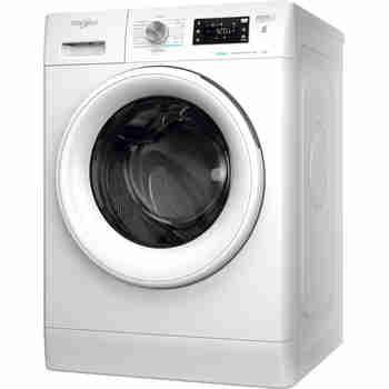 Whirlpool Maşină de spălat rufe Independent FFB 7238 WV EE Alb Încărcare frontală D Perspective