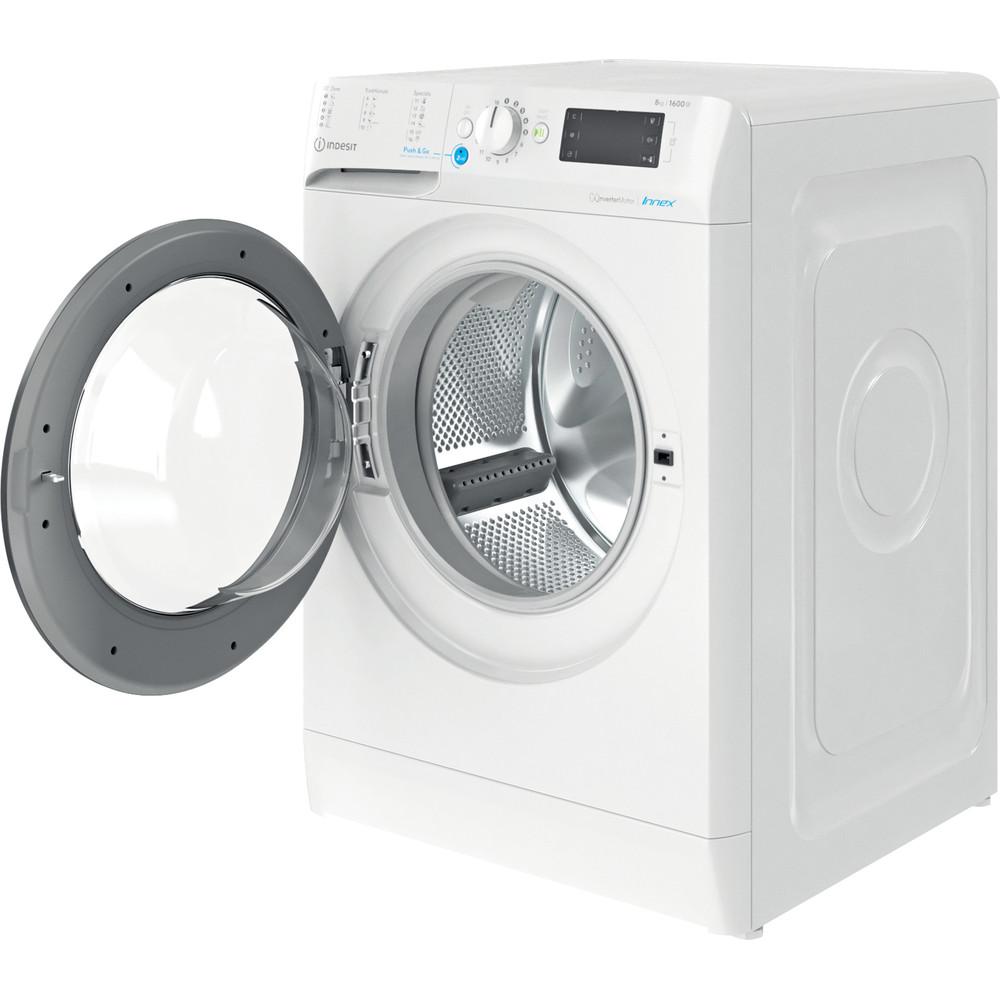 Indesit Wasmachine Vrijstaand BWE 81683X WK EU N Wit Voorlader D Perspective open