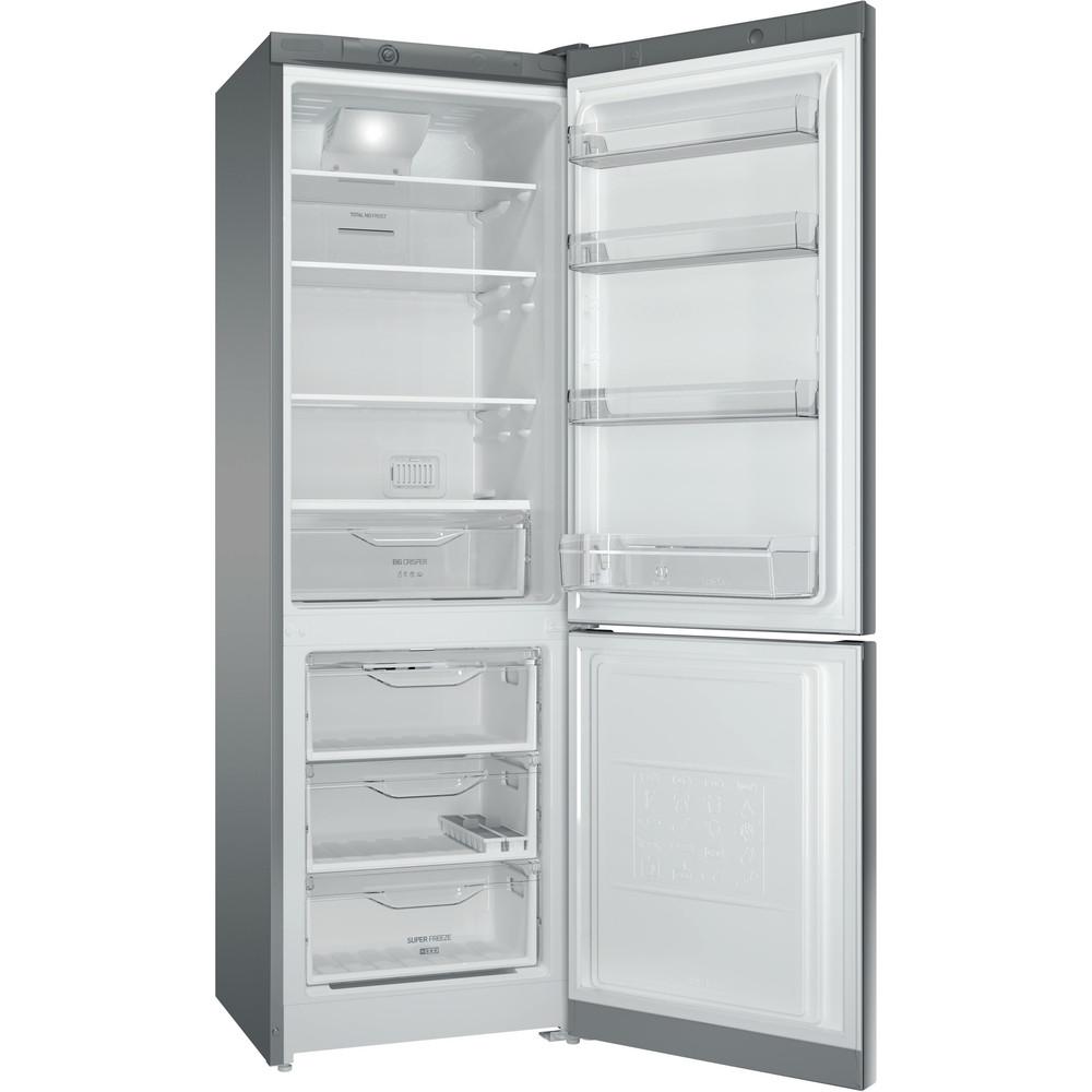 Indesit Холодильник с морозильной камерой Отдельностоящий DFM 4180 S Серебристый 2 doors Perspective open