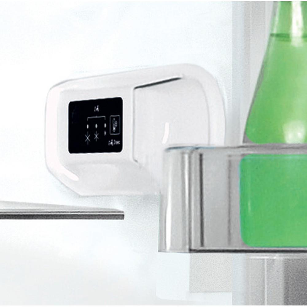 Indesit Køleskab/fryser kombination Fritstående LI9 S1E S Sølvfarve 2 doors Lifestyle control panel