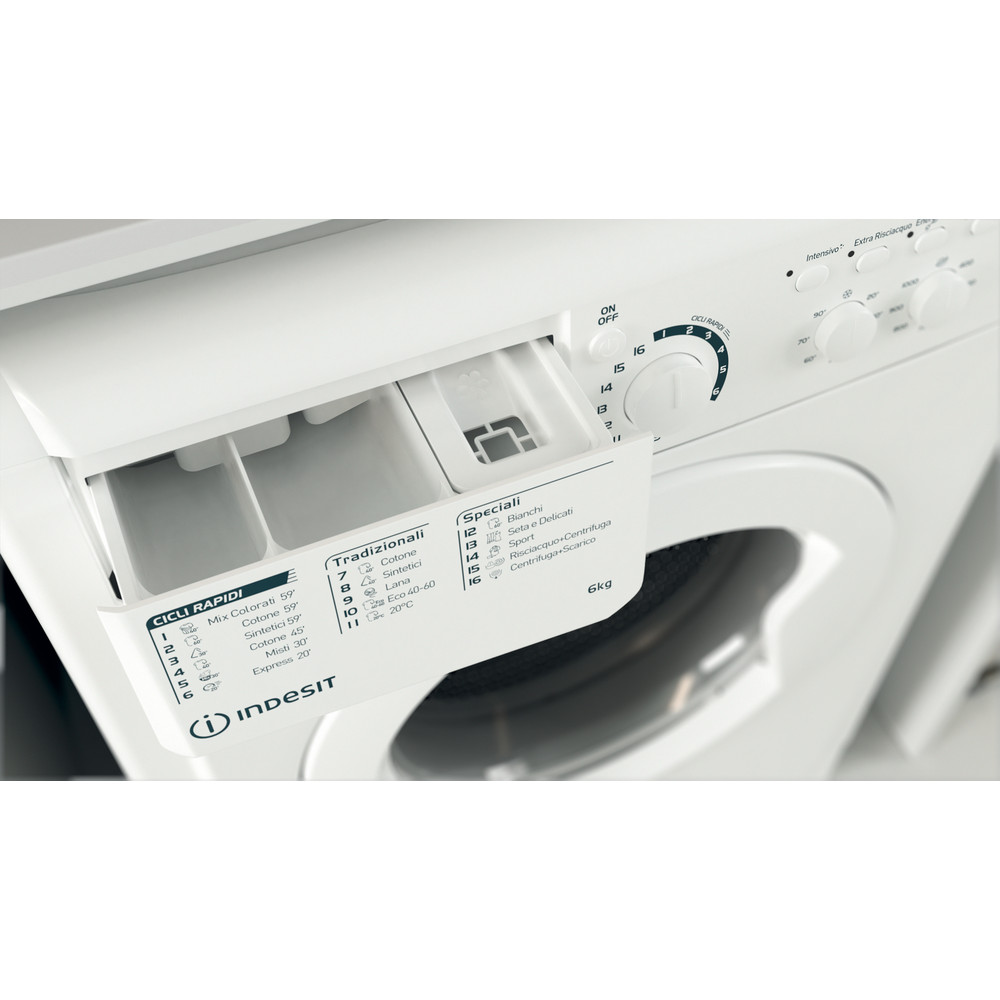 Indesit Lavabiancheria A libera installazione EWC 61051 W IT N Bianco Carica frontale F Drawer