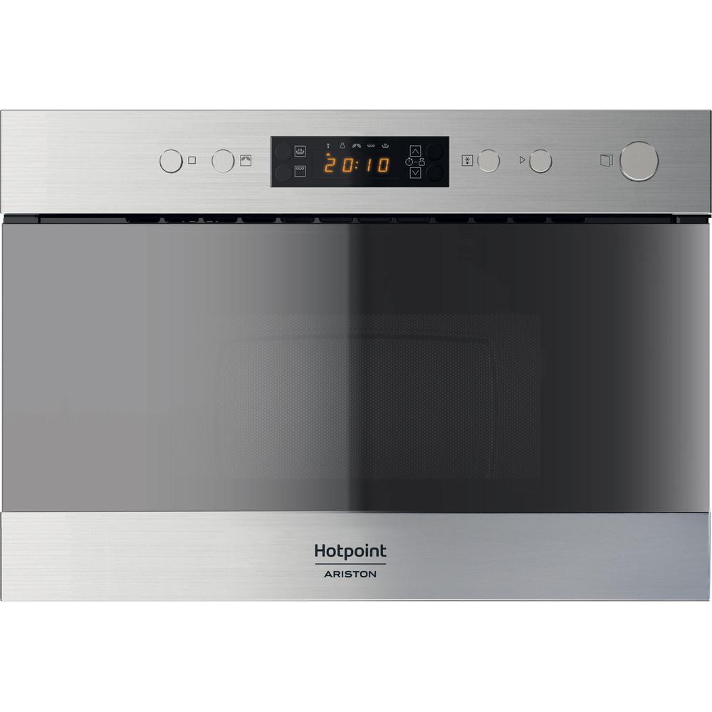 Hotpoint_Ariston Micro-ondas Encastre MN 214 IX HA Inox Eletrónico 22 MO + Função Grill 750 Frontal