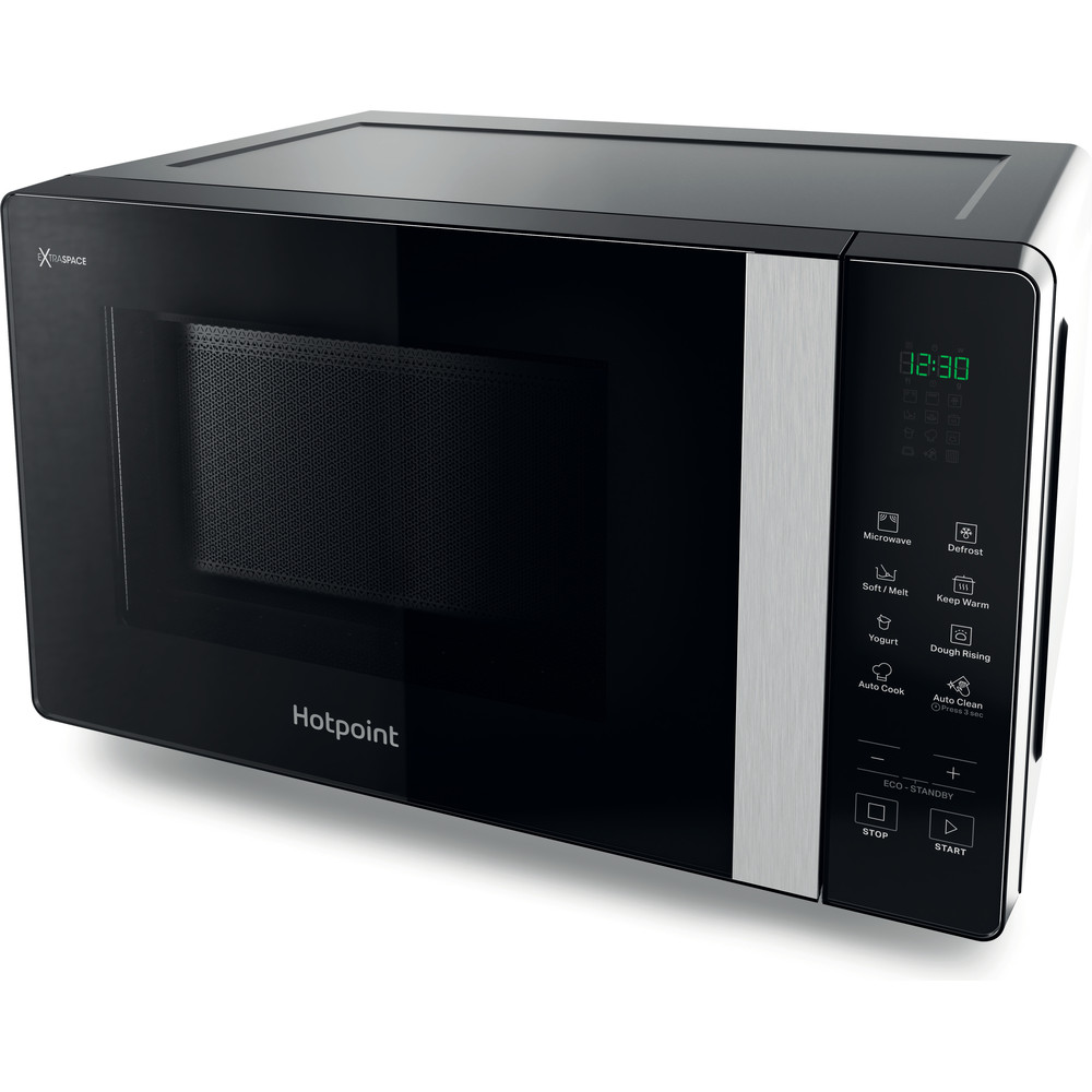 Hotpoint Microwave Free-standing MWHF 201 B Black Electronic 20 MW only 800 Perspective