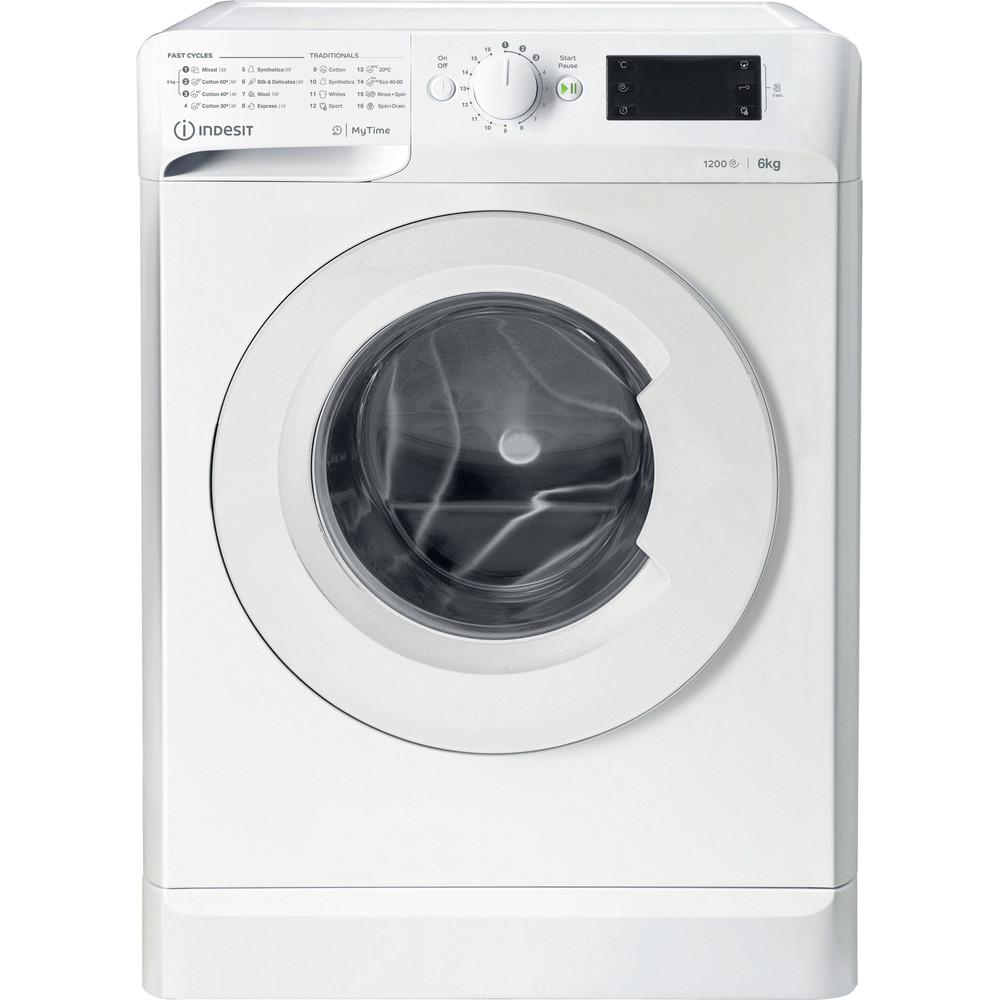 Indsit Maşină de spălat rufe Independent MTWSE 61252 W EE Alb Încărcare frontală A +++ Frontal