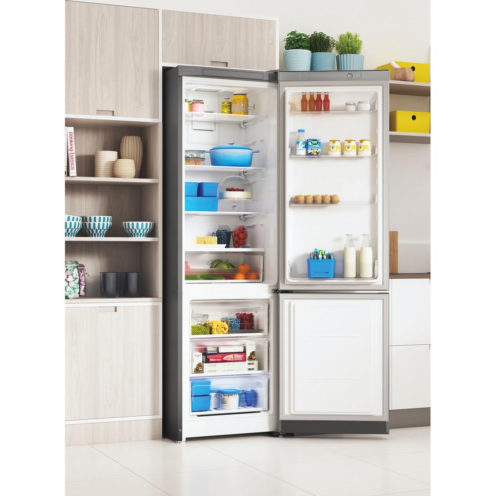 Indesit Холодильник с морозильной камерой Отдельностоящий ITS 5180 X Inox 2 doors Lifestyle perspective open