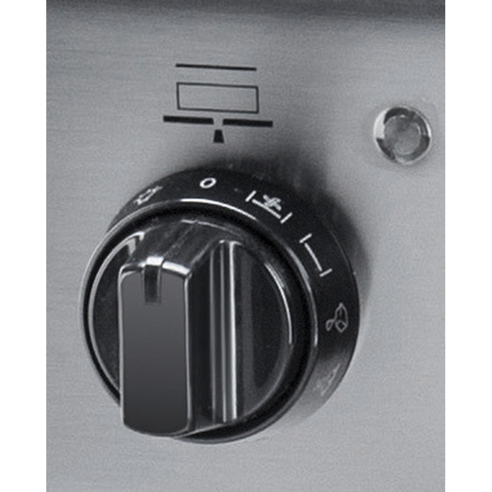 Indesit Cuisinière I6VMH2A(X)/NL Inox Non Control panel
