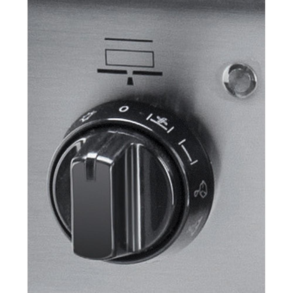 Indesit Cuisinière I6VMH2A(X)/NL Inox Non Control panel