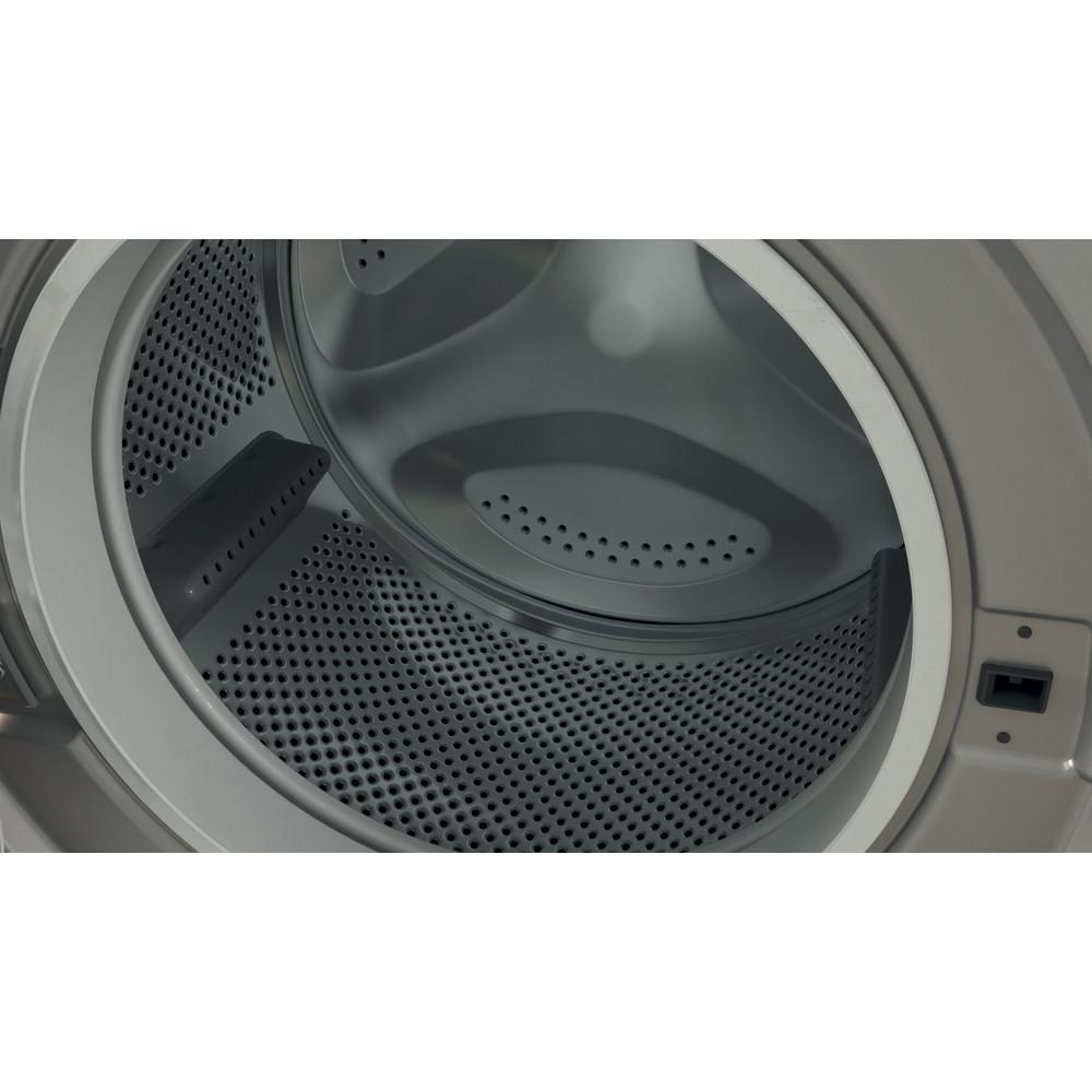 Indesit Washing machine Free-standing BWA 81483X S UK N Silver Front loader D Drum