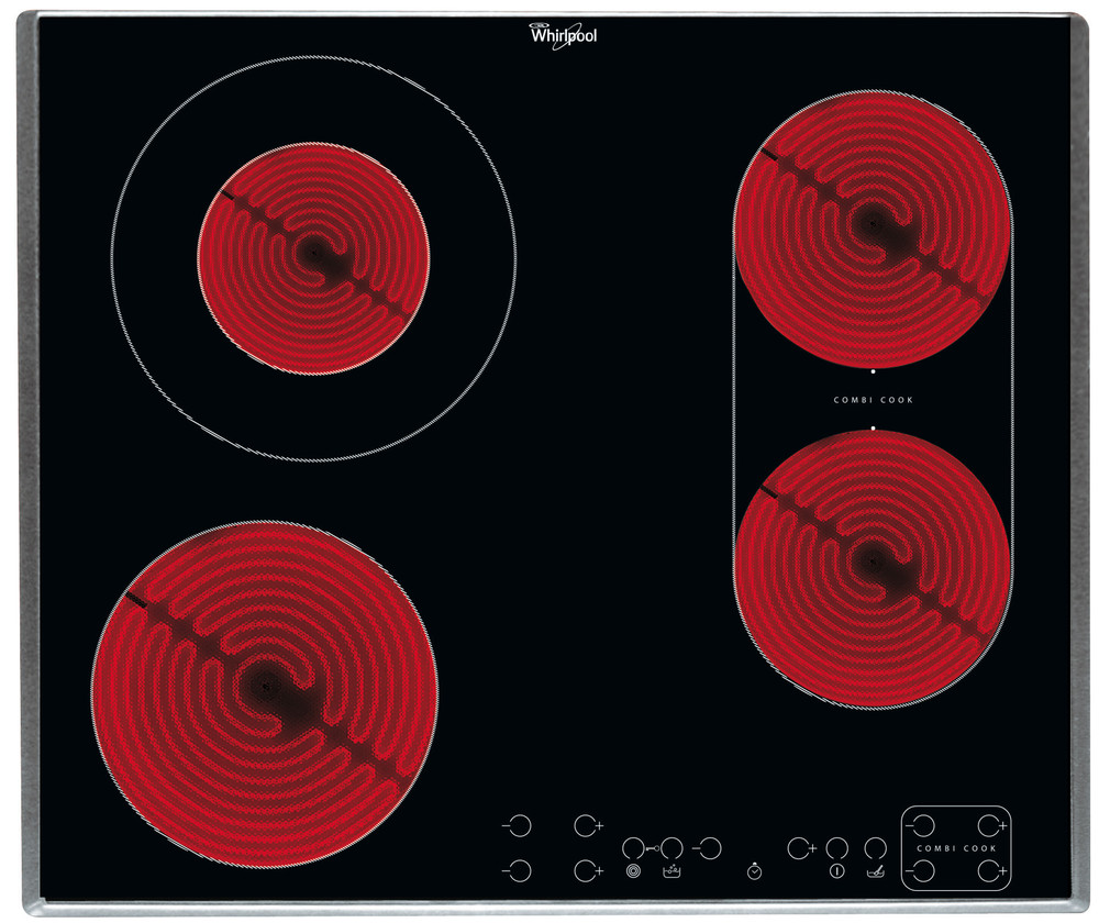 Whirlpool HOB AKT 8700/IX Crna Radiant vitroceramic Frontal