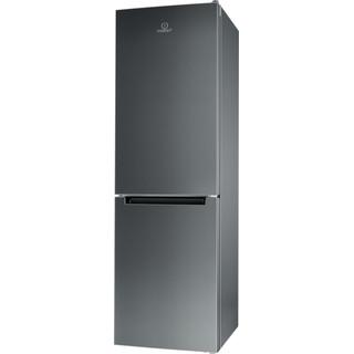 Indesit Combiné réfrigérateur congélateur Pose-libre XIT8 T1E X Optic Inox 2 portes Perspective