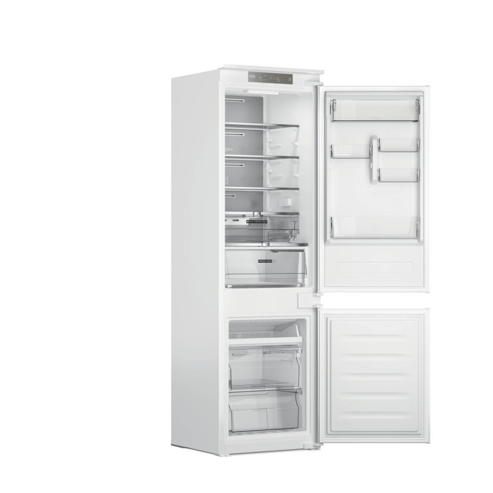Whirlpool Fridge/freezer combination Vgradni WHC18 T341 Bela 2 doors Perspective open