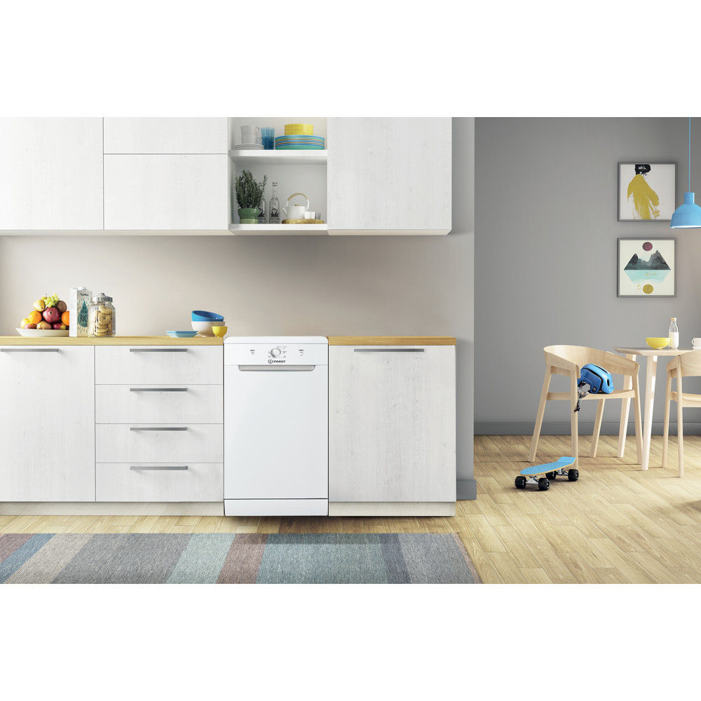 Indesit Lave-vaisselle Pose-libre DSFE 1B10 Pose-libre F Lifestyle frontal