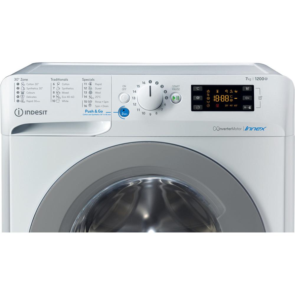 Indesit Pračka Volně stojící BWE 71283X WS EE N Bílá Front loader A+++ Control panel
