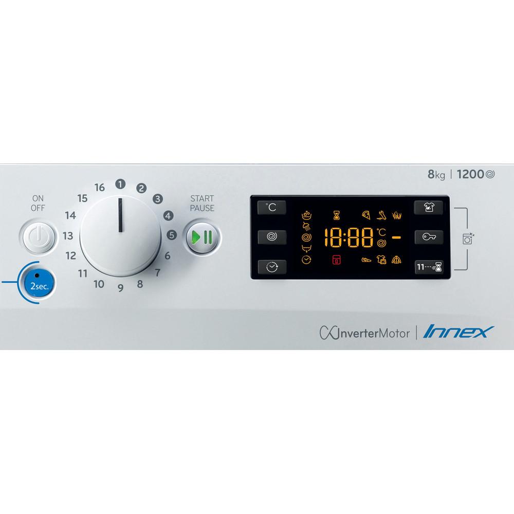 Indesit Lavadora Libre instalación BWE 81284X WS SPT N Blanco Cargador frontal C Control panel