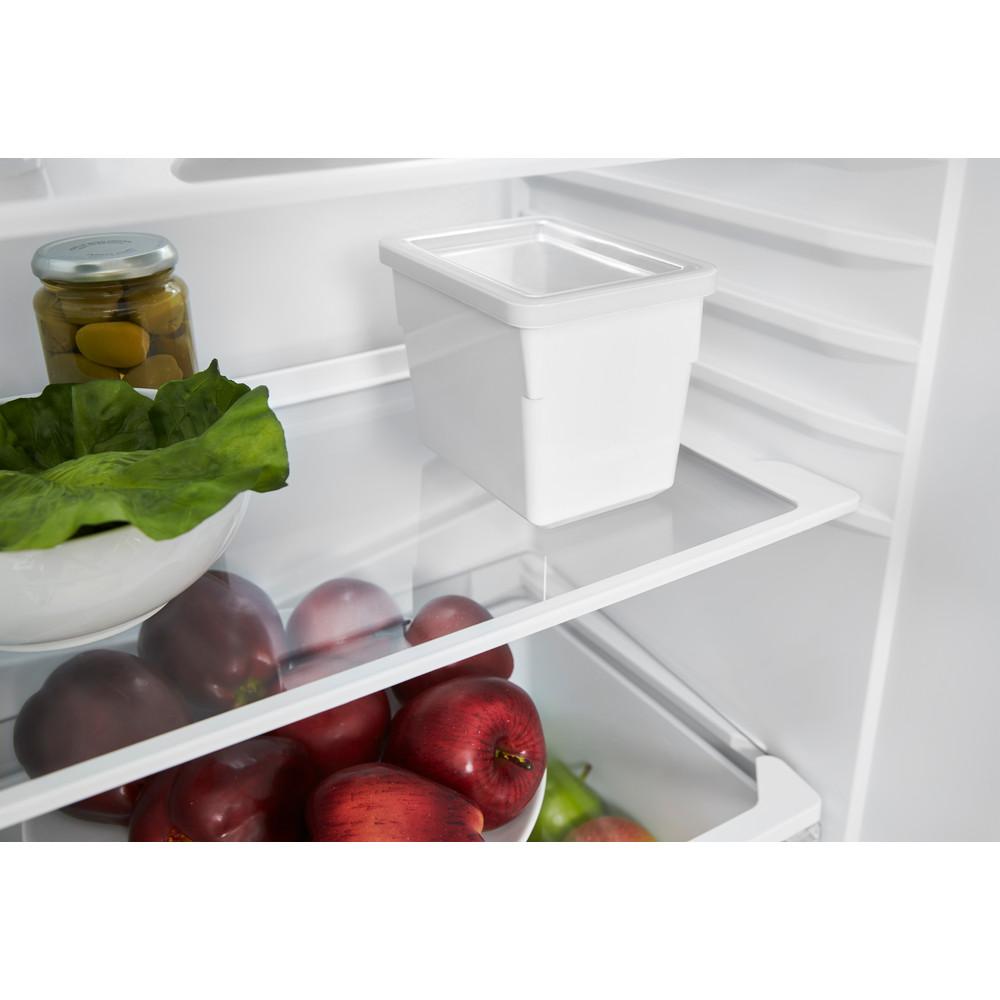 Indesit Комбиниран хладилник с камера Свободностоящи CAA 55 NX Инокс 2 врати Drawer