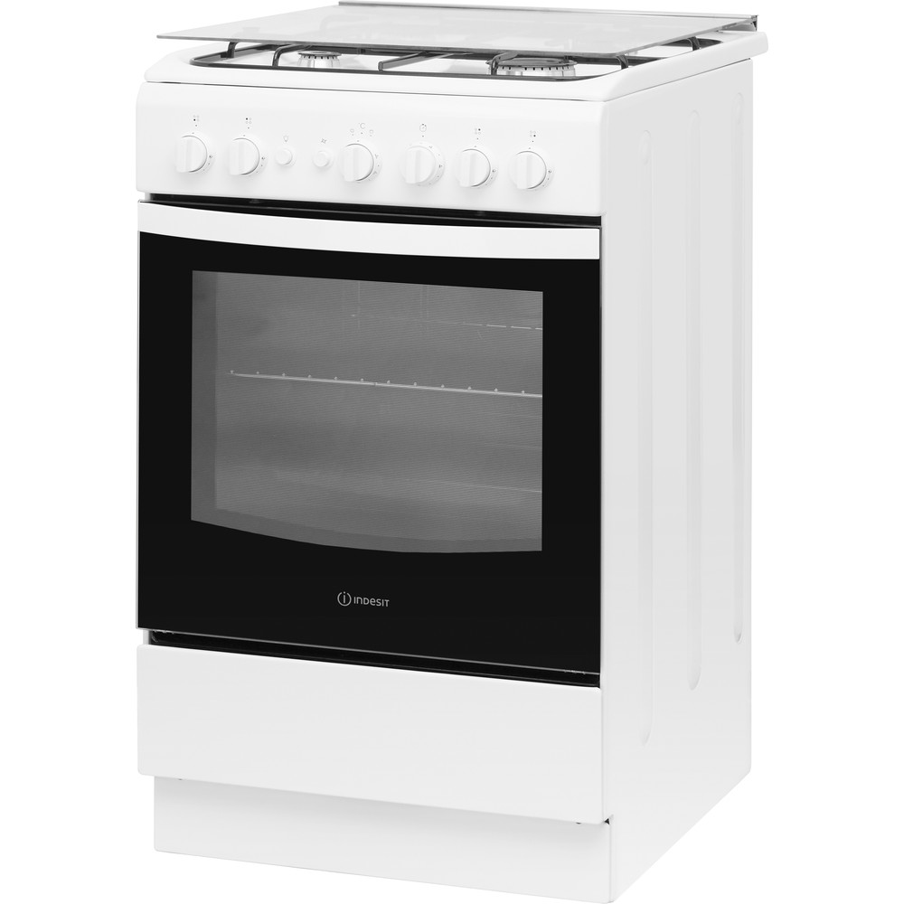 Indesit Cocina IS5G1PMW/E Blanco Gas Perspective