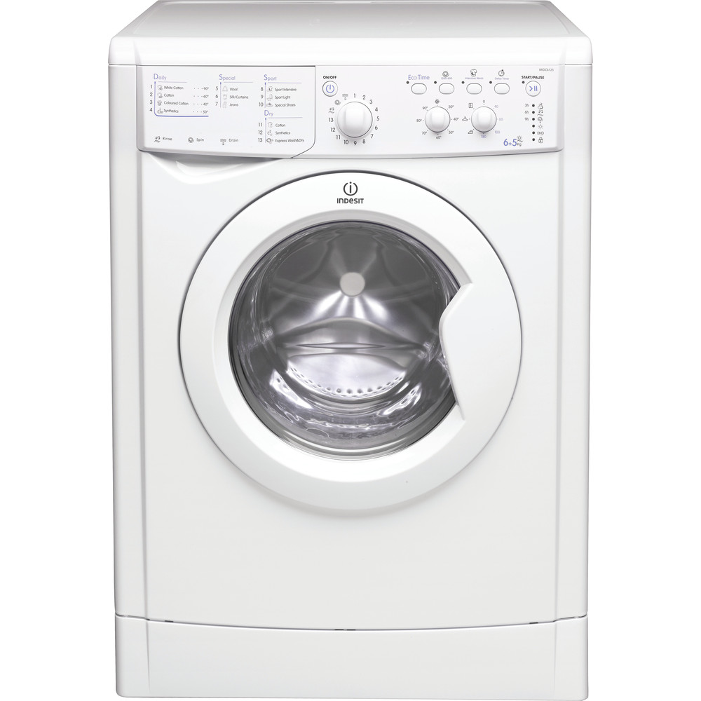 Indesit Washer dryer Free-standing IWDC 6125 (UK) White Front loader Frontal