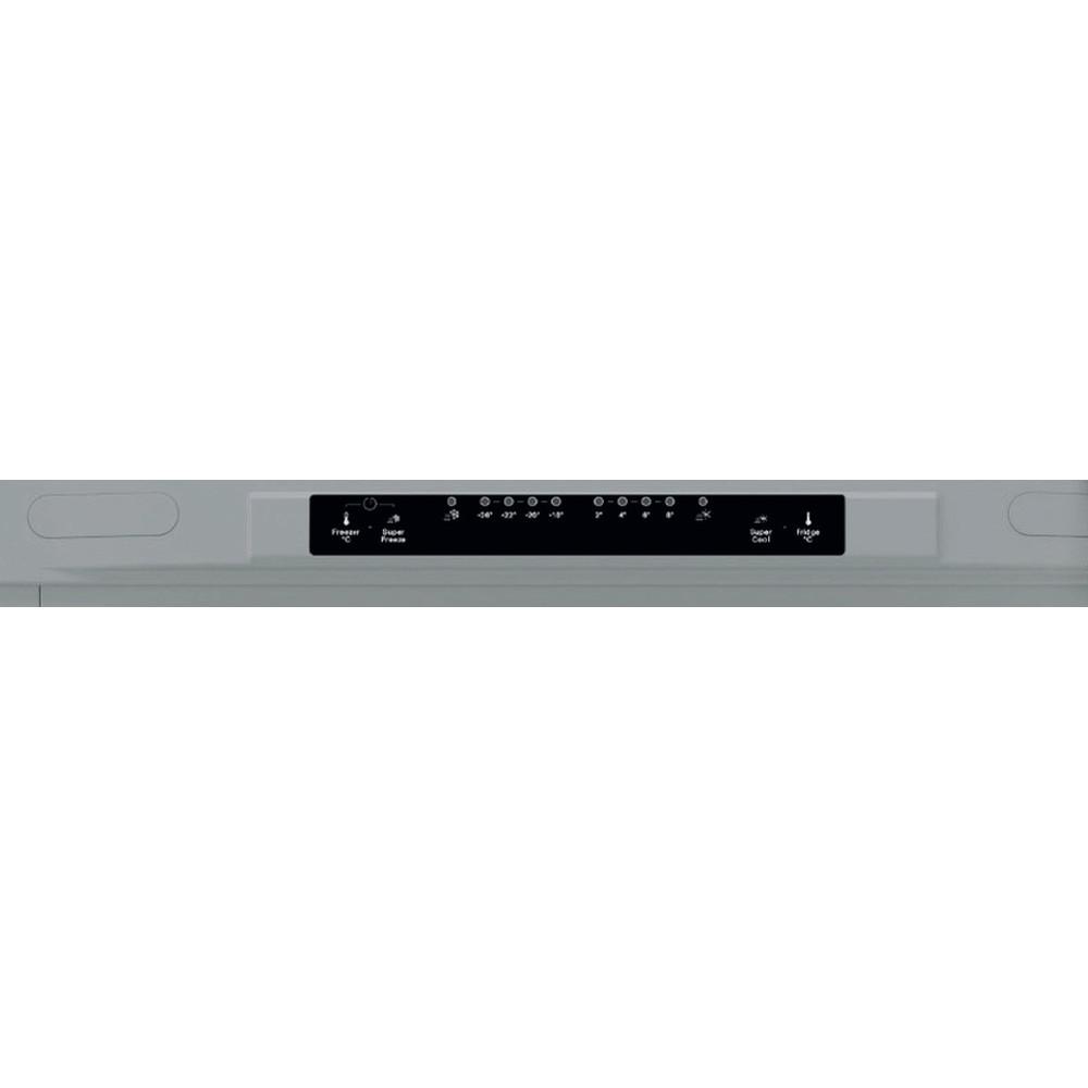 Indesit Combinado Livre Instalação XIT9 T3U X Inox 2 doors Control panel
