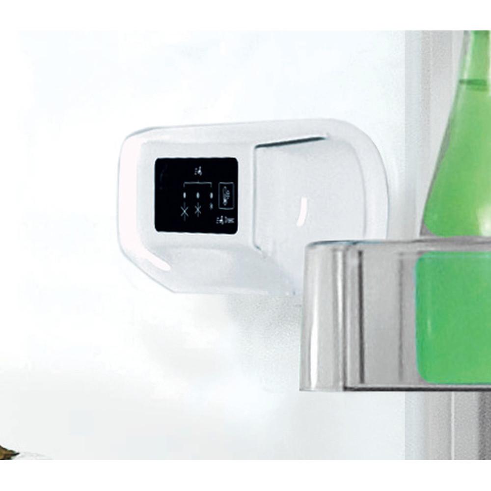 Indesit Fridge-Freezer Combination Free-standing LI8 S1E S UK Silver 2 doors Control panel