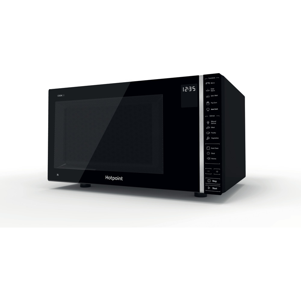 Hotpoint Microwave Free-standing MWH 301 B Black Electronic 30 MW only 900 Perspective