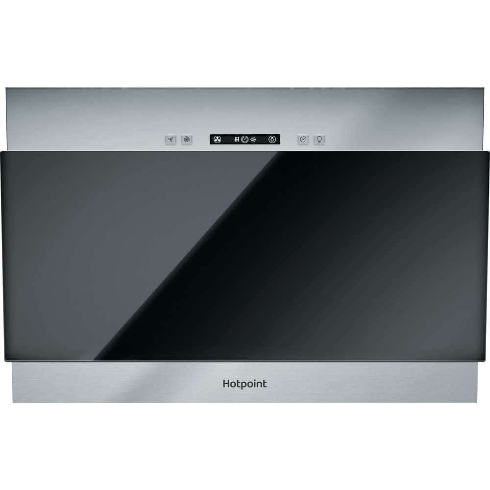 Hotpoint HOOD Built-in PHVP 6.4F AL K Black Wall-mounted Electronic Frontal
