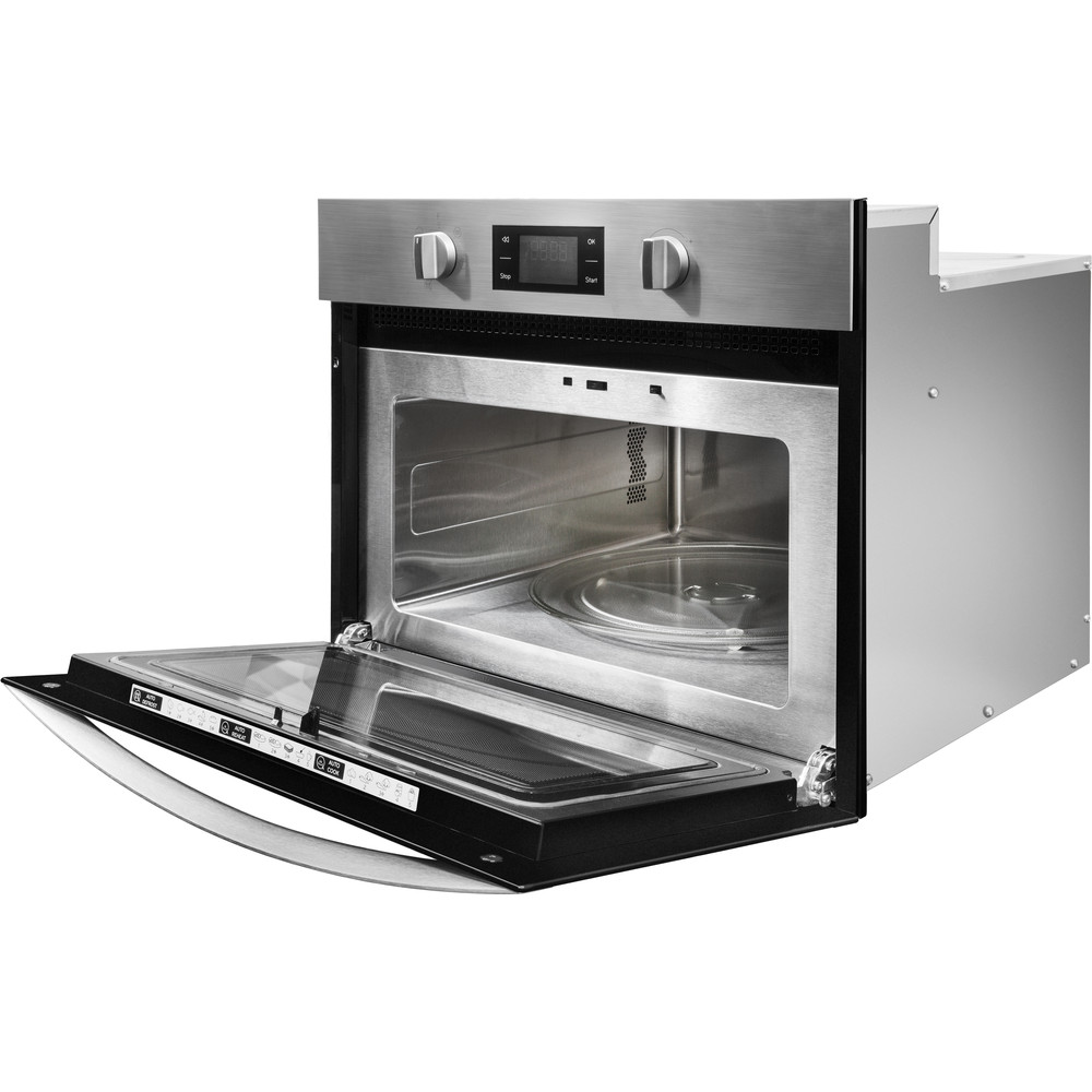 Indesit Microwave Built-in MWI 3443 IX UK Inox Electronic 40 MW+Grill function 900 Perspective open