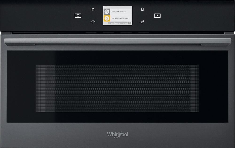 Whirlpool Mikroaaltouuni Kalusteisiin sijoitettava W9 MD260 BSS Black Steel Elektroninen 31 Mikroaaltotoiminto ja grilli 1000 Frontal