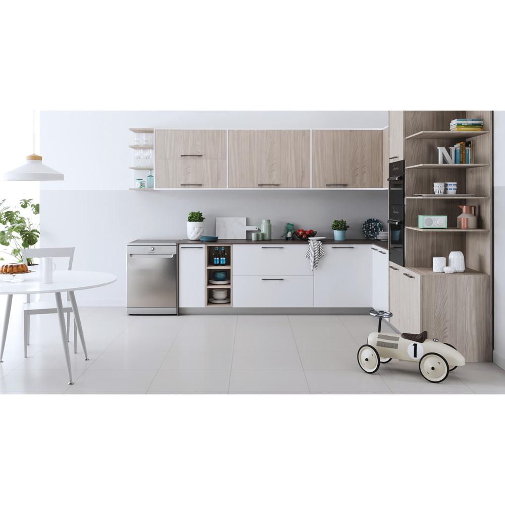 Indesit Dishwasher Free-standing DFE 1B19 X UK Free-standing F Lifestyle frontal