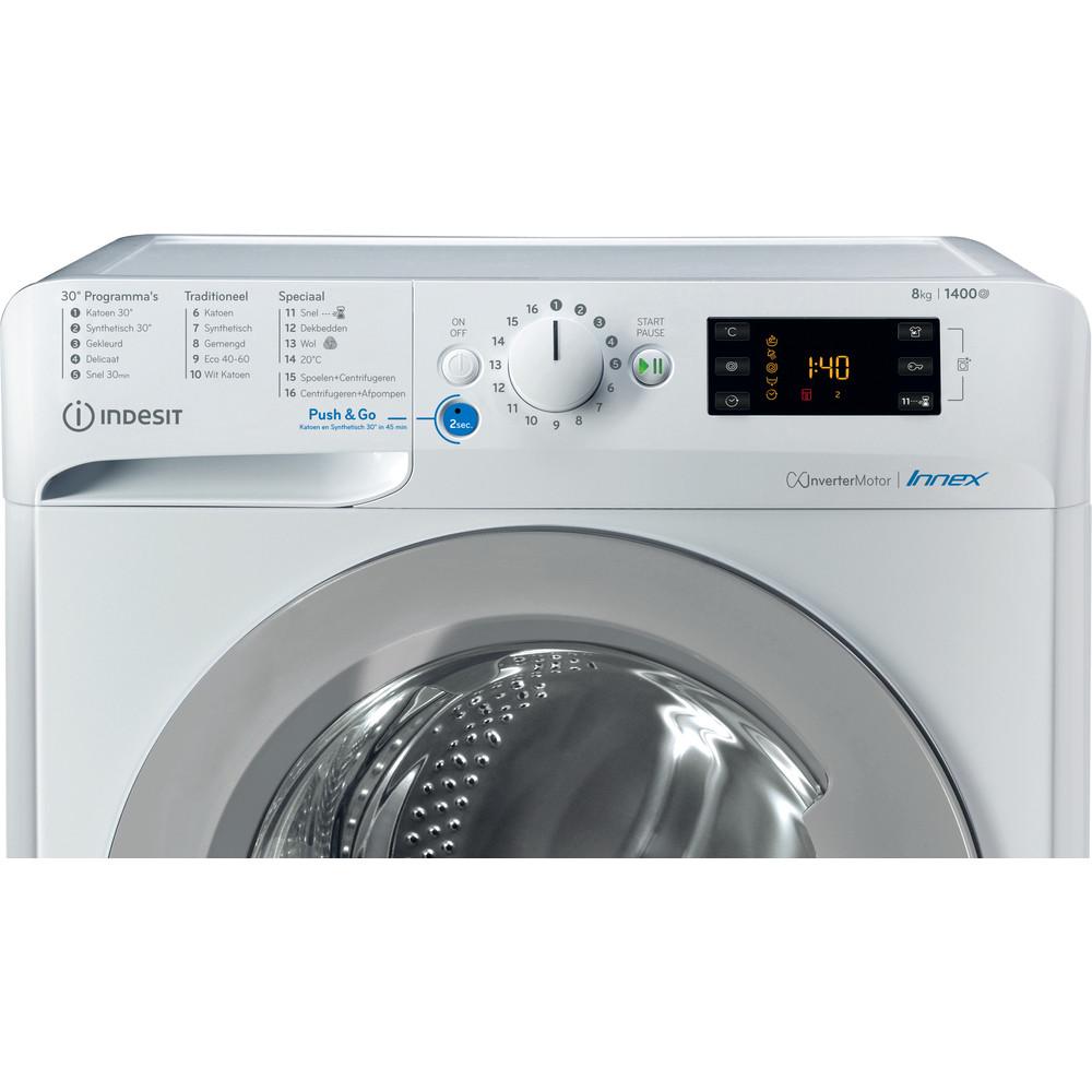 Indesit Wasmachine Vrijstaand BWENL 81484X WS N Wit Voorlader A+++ Control panel