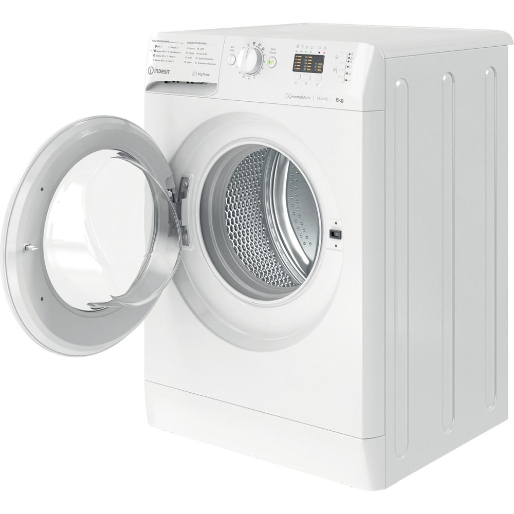 Indesit Waschmaschine Freistehend MTWA 61482E W DE Weiß Frontlader D Perspective open