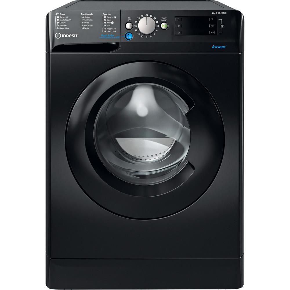 Indesit Washing machine Free-standing BWE 71452 K UK N Black Front loader E Frontal