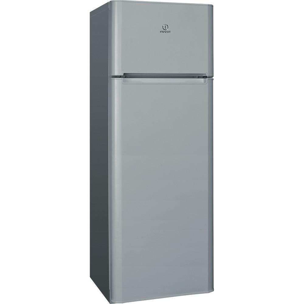 Indesit Холодильник с морозильной камерой Отдельностоящий TIA 16 S Серебристый 2 doors Perspective