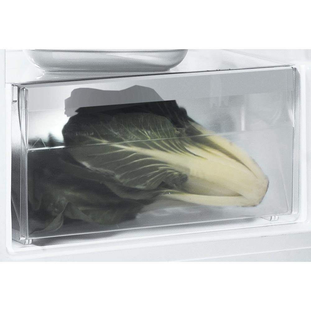 Indesit Refrigerator Free-standing SI6 1 S UK.1 Silver Drawer