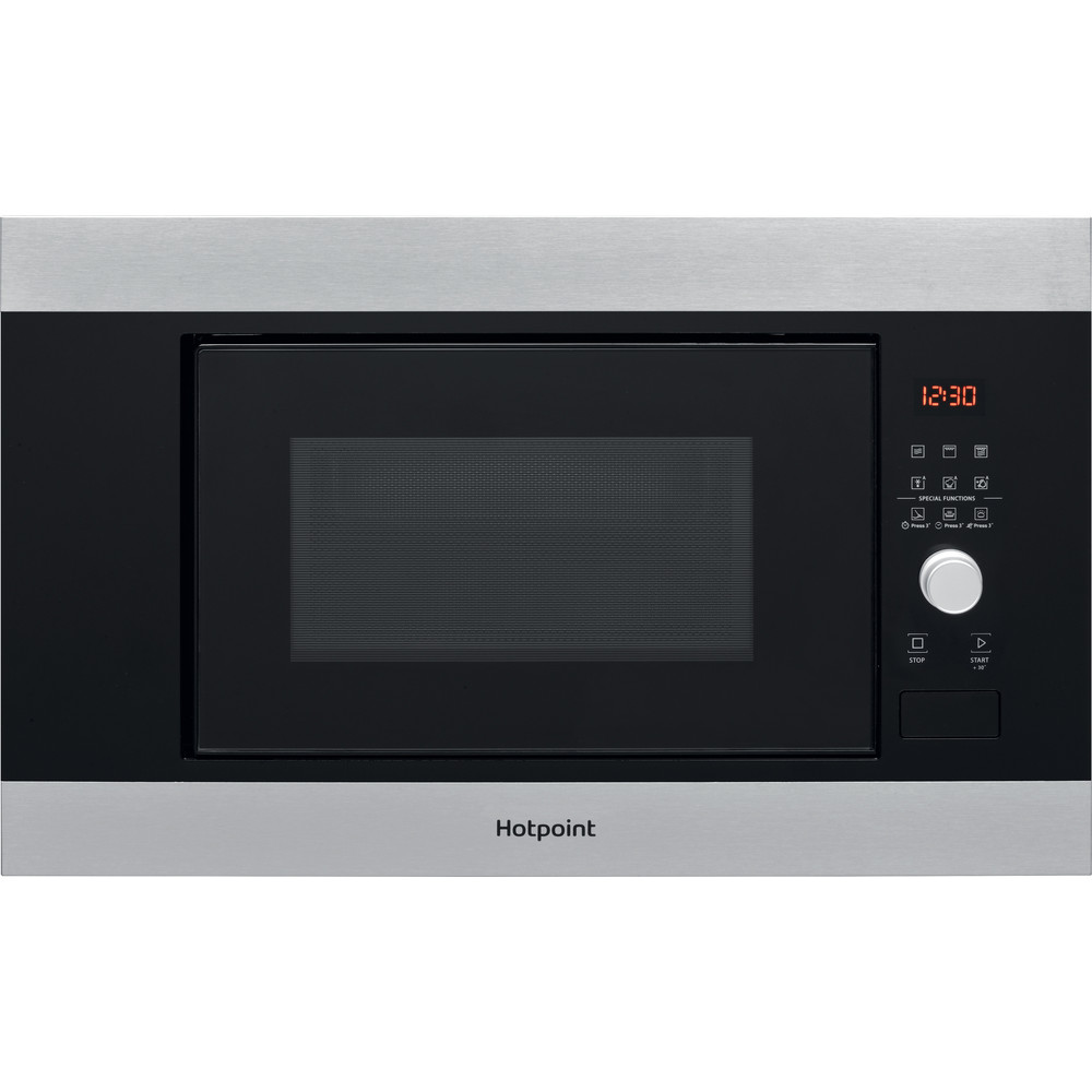 Hotpoint Microwave Built-in MF20G IX H Inox Electronic 20 MW+Grill function 800 Frontal