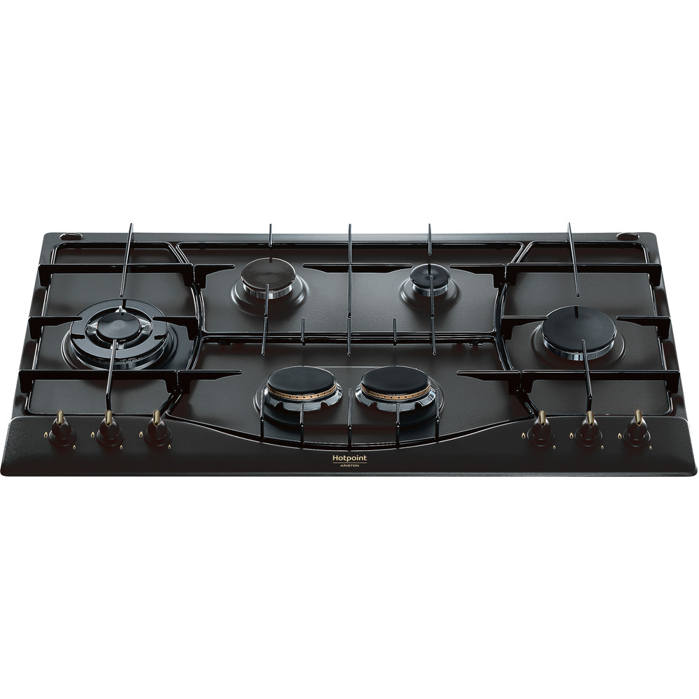 Hotpoint_Ariston Piano cottura PHN 960MST (AN) R/HA Antracite GAS Frontal top down
