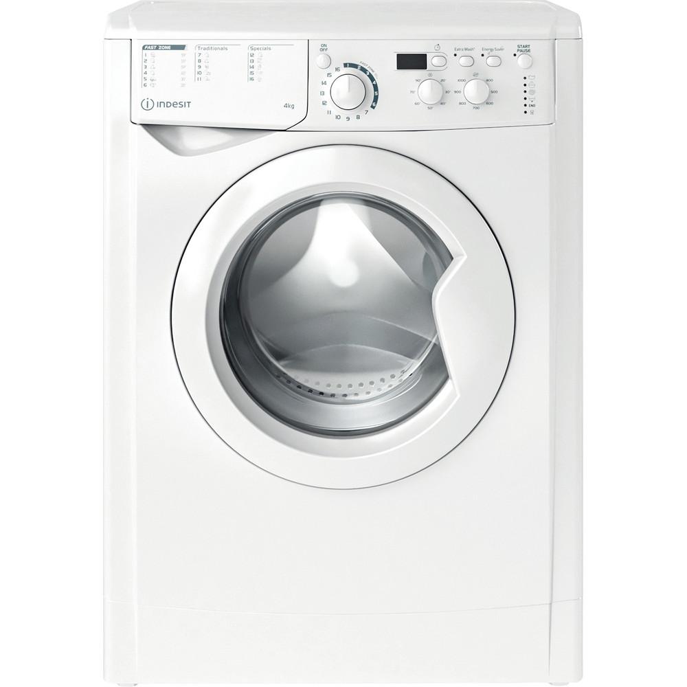 Indesit Pračka Volně stojící EWUD 41051 W EU N Bílá Front loader F Frontal