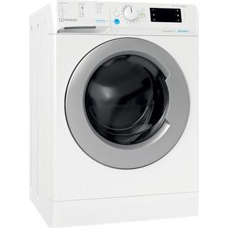 Indesit Kombineret vaskemaskine/tørretumbler Fritstående BDE 861483X WS EU N Hvid Frontbetjent Perspective