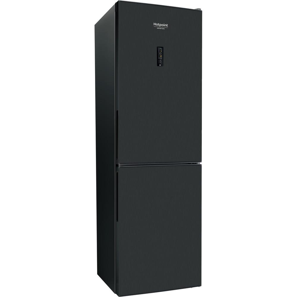 Hotpoint_Ariston Комбинированные холодильники Отдельностоящий RFC 620 BX Черная сталь 2 doors Perspective