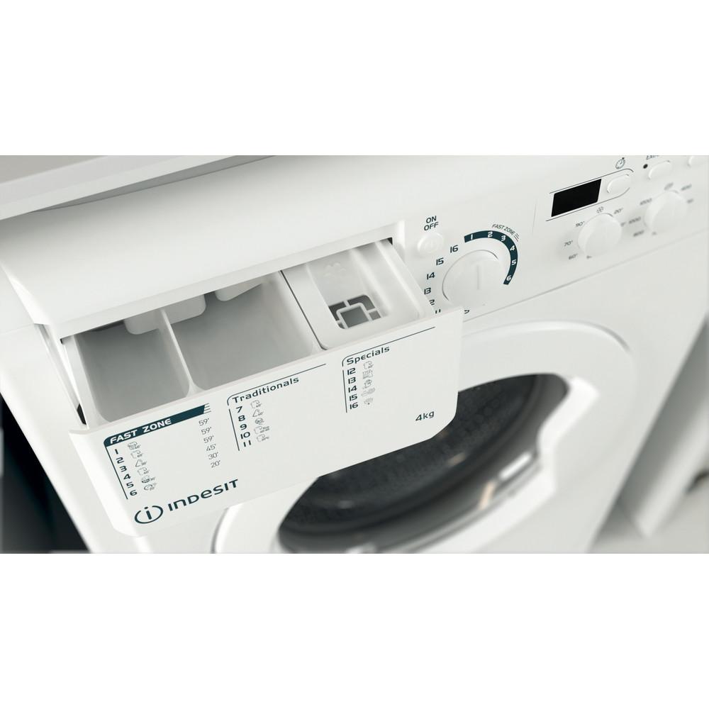 """""""Indesit"""" Skalbimo mašina Laisvai pastatoma EWUD 41251 W EU N Balta Pakraunama iš priekio F Drawer"""