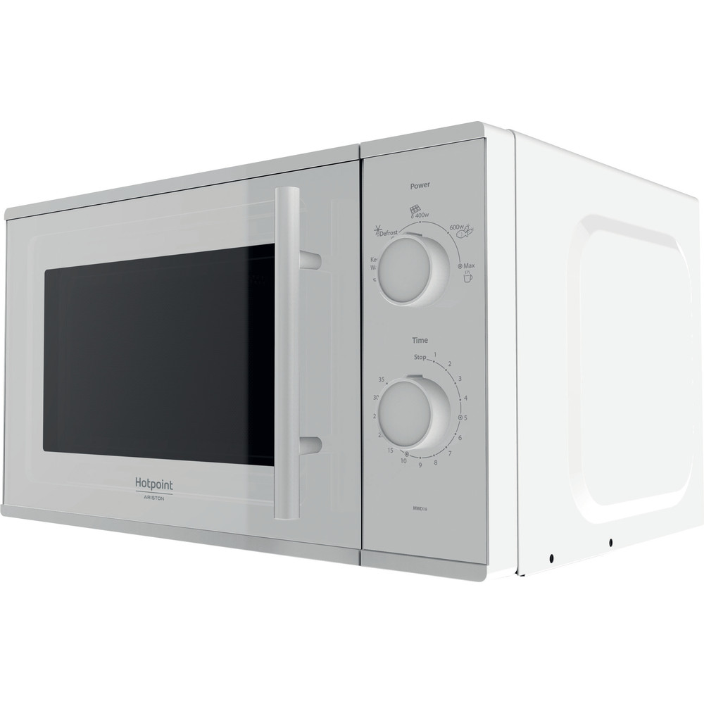 Hotpoint_Ariston Микроволновая печь Отдельностоящий MWHA 2011 MFW0 Белый Механическое 20 Микроволновая печь 700 Perspective