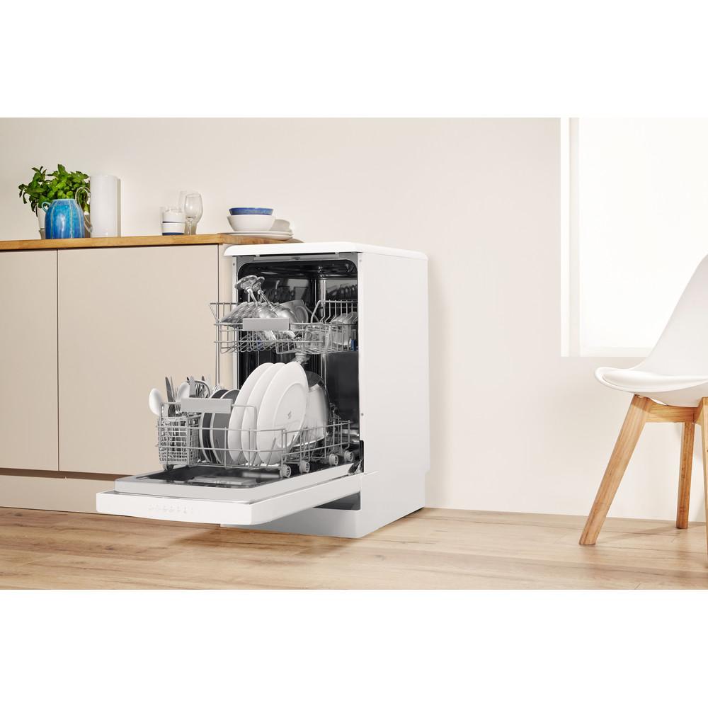 Indesit Посудомоечная машина Отдельно стоящий DSR 57M19 A EU Отдельно стоящий A Lifestyle perspective open