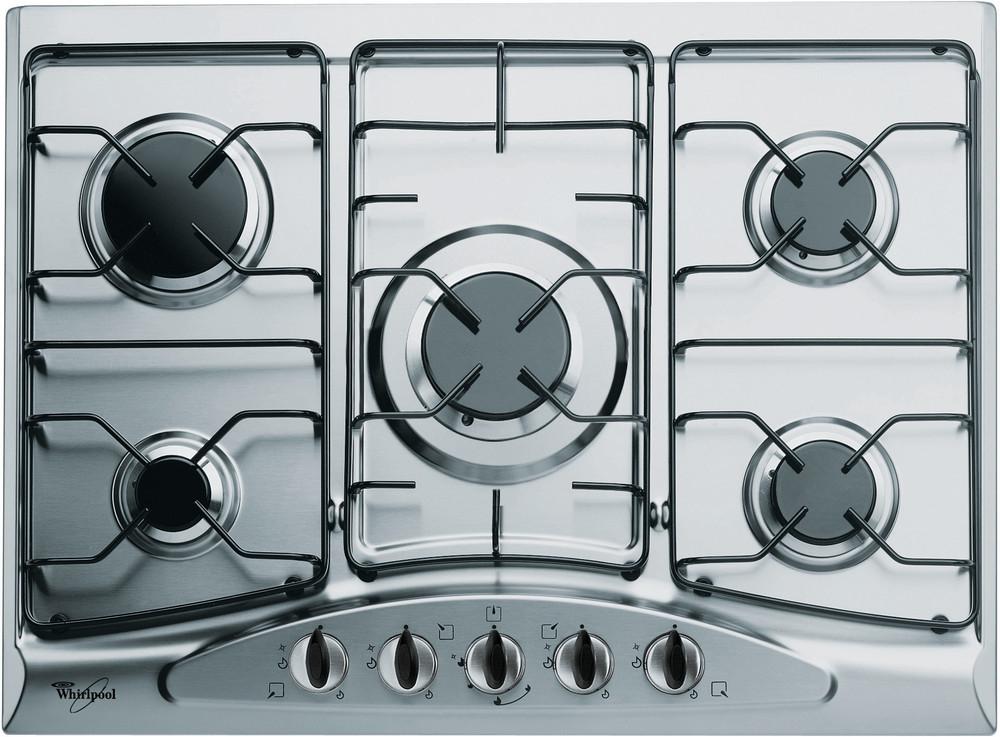 Whirlpool Table de cuisson AKM 361/IX/01 Inox Gaz Frontal
