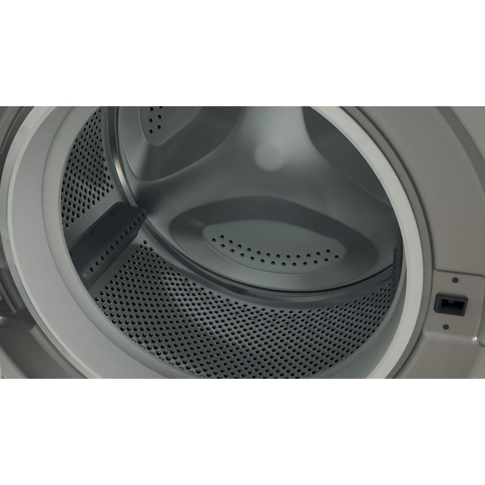 Indesit Washing machine Free-standing BWE 91483X S UK N Silver Front loader D Drum