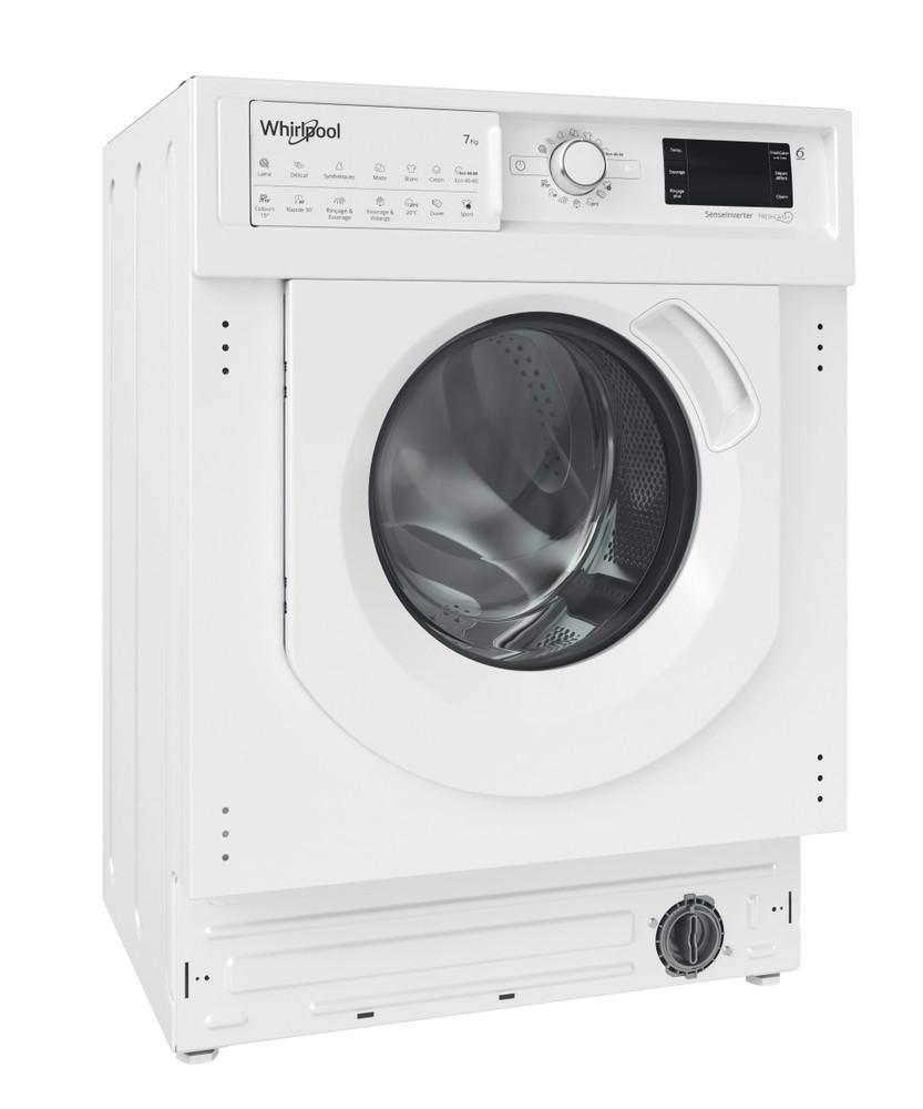 Whirlpool Пералня със сушилня Вграден BI WDWG 751482 EU N Бял Предно зареждане Perspective