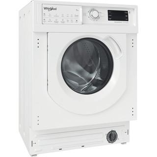 Whirlpool Maşină de spălat rufe cu uscător Incorporabil BI WDWG 751482 EU N Alb Încărcare frontală Perspective