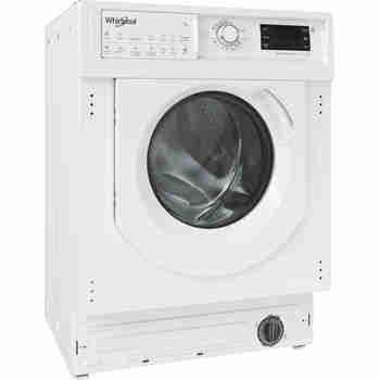 Whirlpool Maşină de spălat rufe cu uscător Încorporabil BI WDWG 751482 EU N Alb Încărcare frontală Perspective