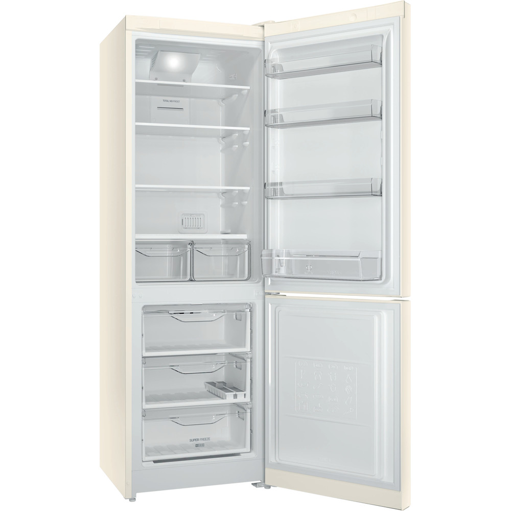 Indesit Холодильник с морозильной камерой Отдельностоящий DF 5180 E Розово-белый 2 doors Perspective open