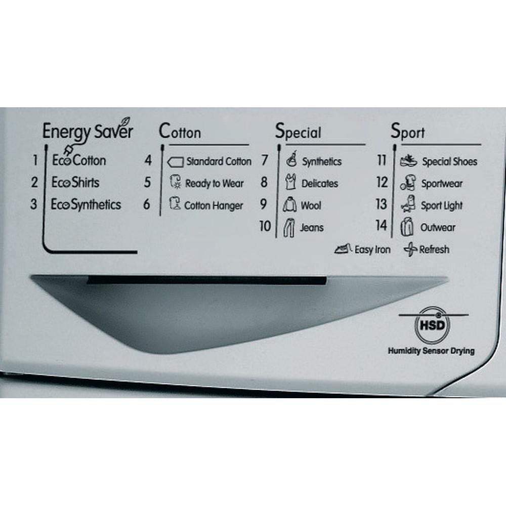 Indesit Dryer IDCE 8450 BS H (UK) Silver Program